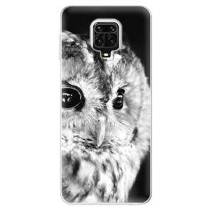 Odolné silikónové puzdro iSaprio - BW Owl - Xiaomi Redmi Note 9 Pro / Note 9S