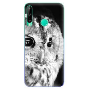 Odolné silikónové puzdro iSaprio - BW Owl - Huawei P40 Lite E