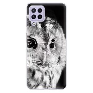 Odolné silikónové puzdro iSaprio - BW Owl - Samsung Galaxy A22