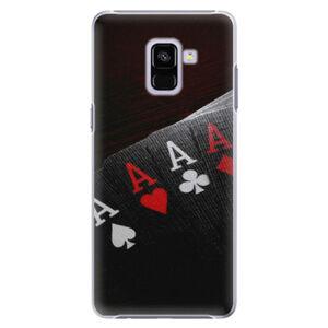 Plastové puzdro iSaprio - Poker - Samsung Galaxy A8+