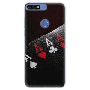 Silikónové puzdro iSaprio - Poker - Huawei Honor 7C