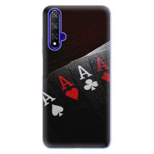 Odolné silikónové puzdro iSaprio - Poker - Huawei Honor 20