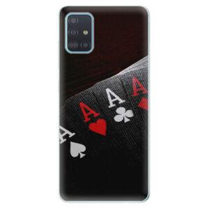 Odolné silikónové puzdro iSaprio - Poker - Samsung Galaxy A51