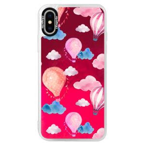 Neónové púzdro Pink iSaprio - Summer Sky - iPhone X