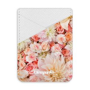 Pouzdro na kreditní karty iSaprio - Flower Pattern 06 - světlá nalepovací kapsa