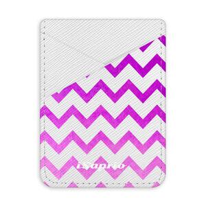 Pouzdro na kreditní karty iSaprio – Zigzag – purple - světlá nalepovací kapsa